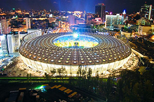 Voyage sport Football COUPE D'EUROPE- Stade Olympique Kiev - Groupe Couleur