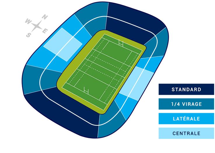 plan du murrayfield stadium  u00e0 edimbourg