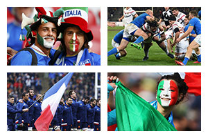 Voyage sport Rugby tournoi 6 NATIONS - Italie v France - Groupe Couleur