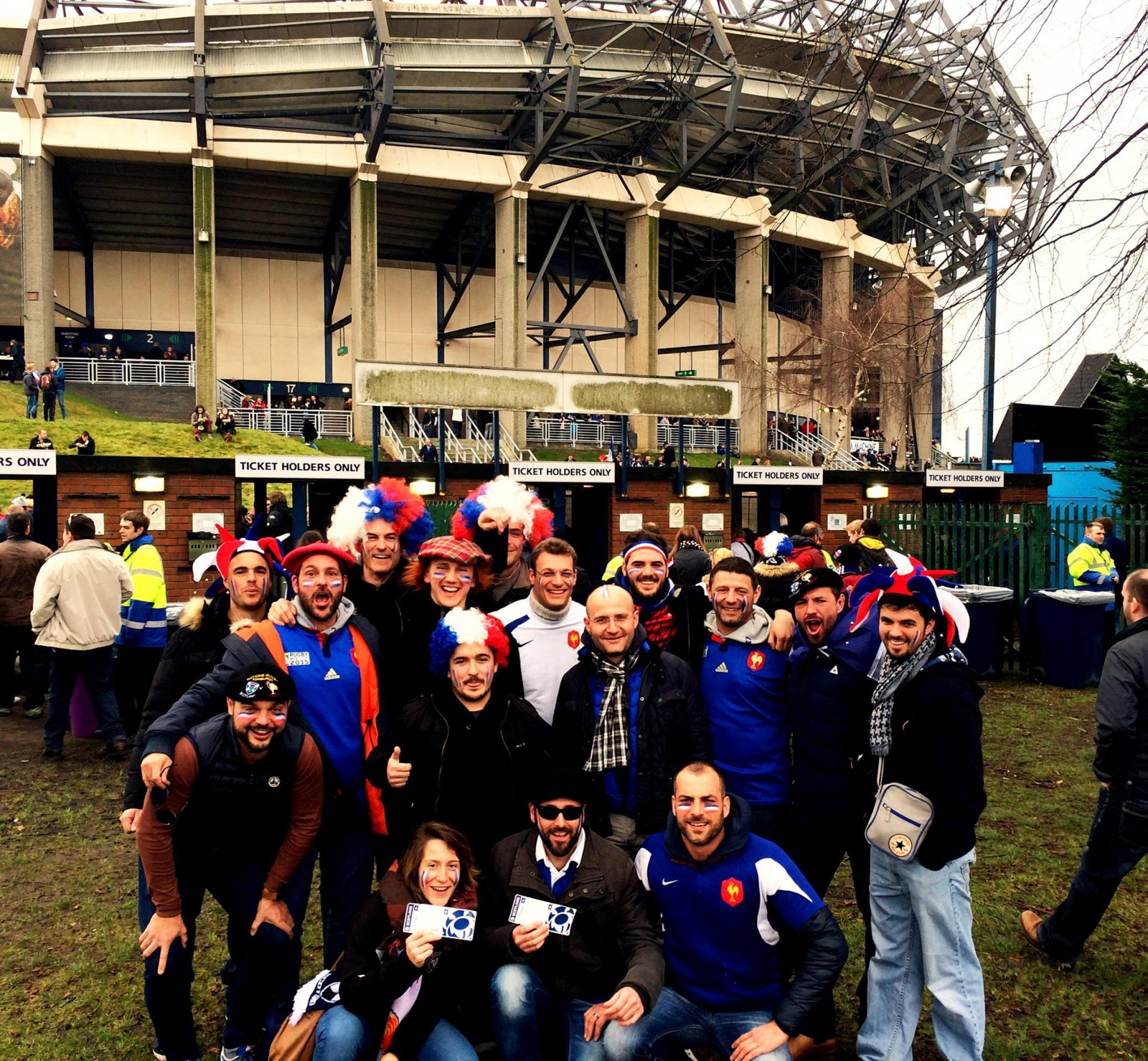 Temoignage Voyage Rugby 6 NATIONS - Ecosse v France - Groupe Couleur