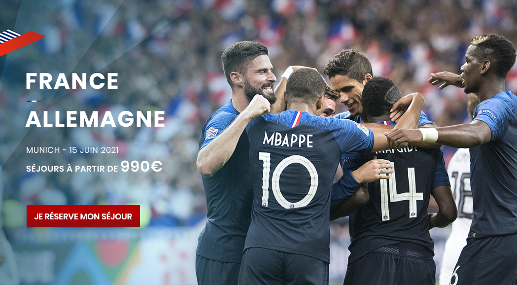 couleur voyages supporters FFF France Allemagne - billet match equipe de france - uefa euro 2020