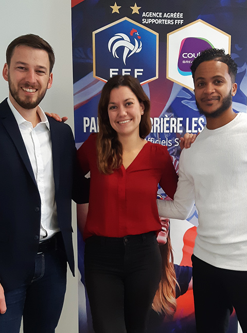 equipe couleur voyages supporters FFF - equipe de france - uefa euro 2020