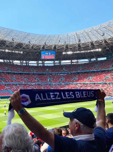 couleur voyages supporters FFF - billet match equipe de france - uefa euro 2021