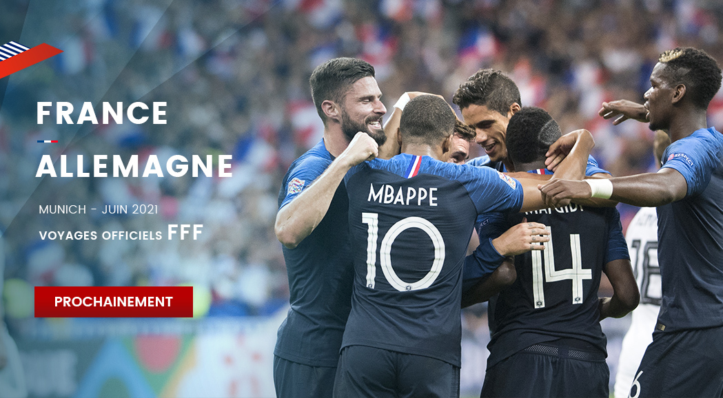 couleur voyages supporters FFF France Allemagne - billet match equipe de france - uefa euro 2021