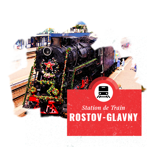 Rostov-sur-le-Don station train- Coupe du Monde Football Russie 2018 - Couleur Voyage